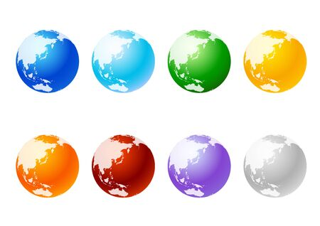 Digital Network Blue Earth - 3D Image.Earth in various colors.