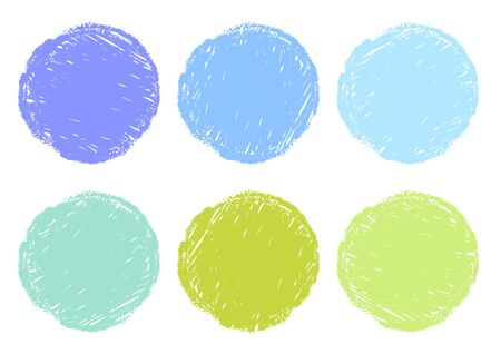Blue Light Blue Green Crayon Circular Texture Background Material Set
