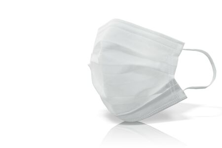 Mask against virus, hay fever and PM2.5 - white background