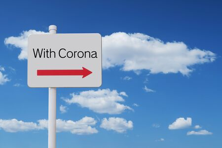 A guidepost pointing to the With Corona