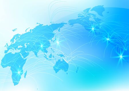 Blue Global Network Cyber Communications IT Image Background Banque d'images - 150204063