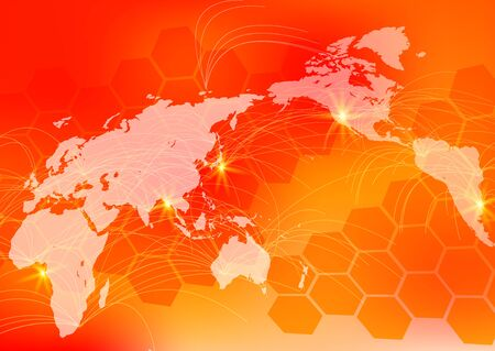 Red Global Network Cyber Communications IT Image Background