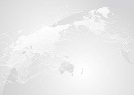 white Global Network Cyber Communications IT Image Background
