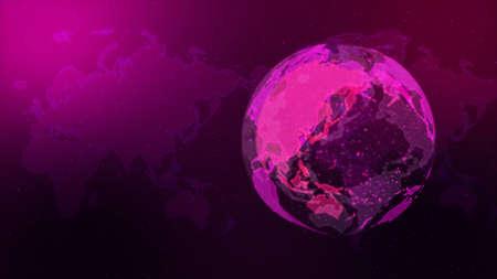 Digital Network Image Background In pink