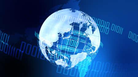Digital Network Image Background In Blue Imagens