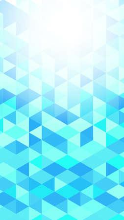 Light blue polygon vector gradient background material Ilustración de vector