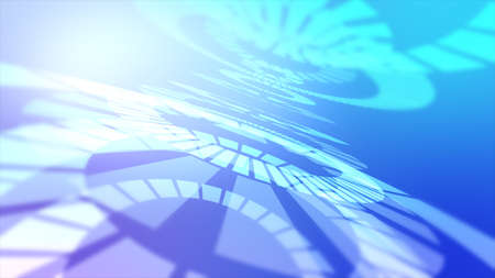 Pastel tone blue concentric circle background material Stock fotó
