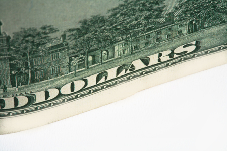 Dollar. model on dollar banknote, concept and idea of time value and money, realestate business and finance concepts.