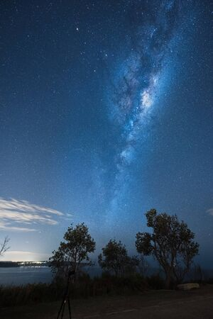 nan: Milky way on the Palm Beach Sydney Australia.