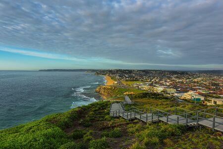 Anzac Memorial Walk and Bar Beach in Newcastle NSW Australia. Stock Photo - 69786355