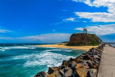 daytime: Nobby Beach in Newcastle NSW Australia.