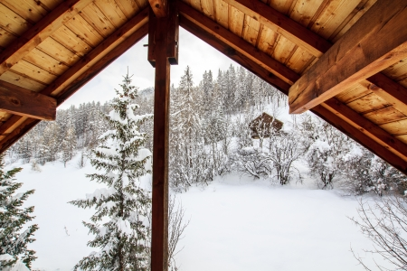 timber frame: View from the mountain chalet window