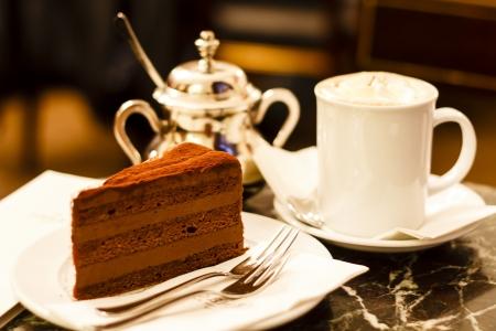 wiedeń: Ciasto czekoladowe Vienna Zdjęcie Seryjne