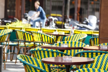 Open outdoor cafe in Paris, France  photo