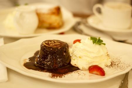Chocolate cake at Cafe central, Vienna, Austria