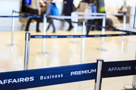 Airport check-in business premium photo