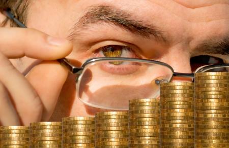 チェックと財政状態の株式市場のアカウントです。 写真素材