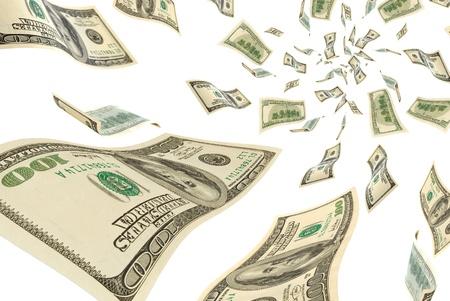 cash money: El dinero está volando en el aire.