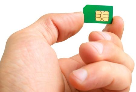 男の Sim カード 写真素材 - 21380656