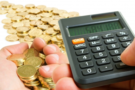 Administratie en controle van de financiële omzet Stockfoto