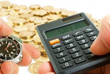 Berekening van de snelle en hoge financiële rendementen Stockfoto