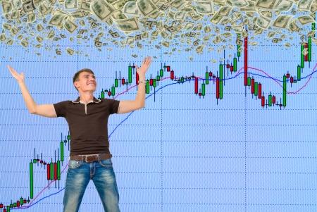 株式市場で利益を作る 写真素材