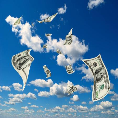 Het geld vliegt in de lucht