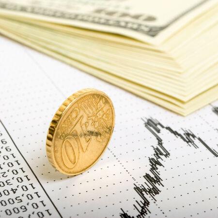 国際証券取引所の通貨投機の傾向の指標 写真素材