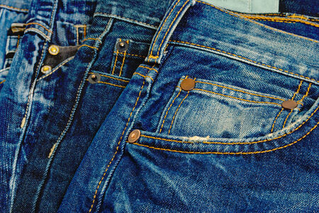 A wide selection of jeans and denim clothing
