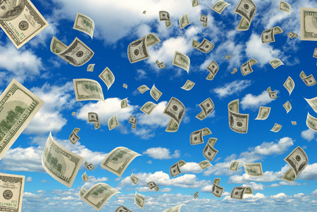 advances: Money in flying in the sky