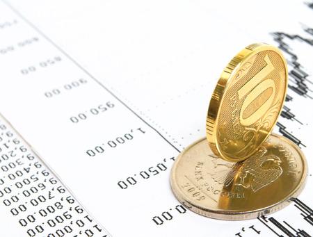 Ruble exchange rate on international stock exchanges  Stok Fotoğraf