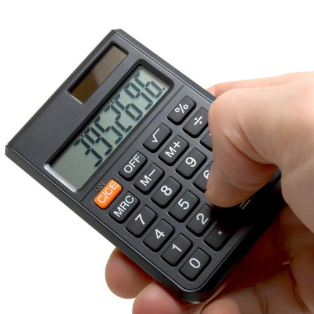 男の電卓 写真素材 - 26960343