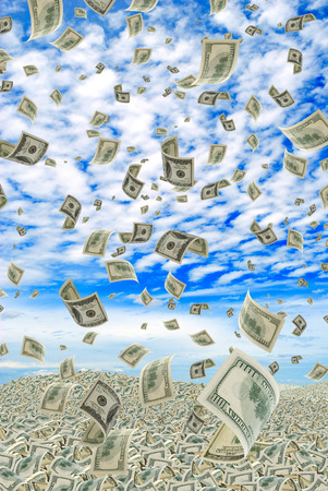amounts: Huge amounts of money invested in investment  Stock Photo
