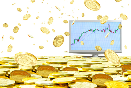 speculation: Increase in profitability from speculation in the currency market  Stock Photo