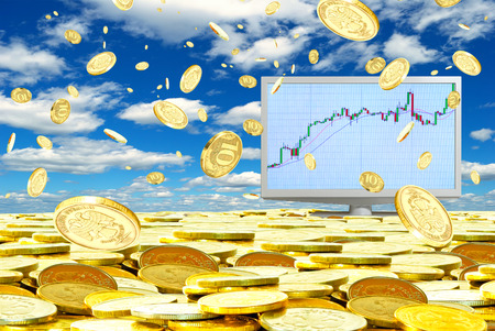 Increase in profitability from speculation in the currency market  版權商用圖片