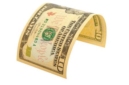 The denomination of ten dollars isolated. Reklamní fotografie
