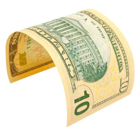 De benaming van tien dollar geïsoleerd. Stockfoto - 34190182