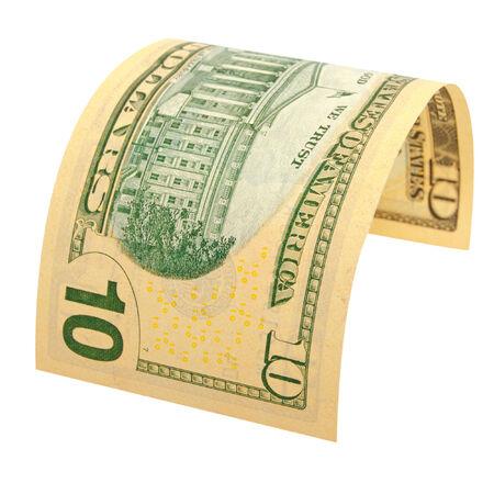分離された 10 ドルの名称。