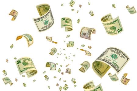 argent: Collage avec billets d'un dollar dans diverses confessions.