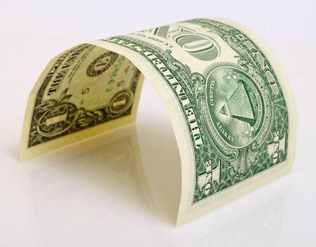 One dollar close up on a light plane. Reklamní fotografie