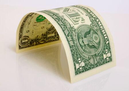 Een dollar close-up op een licht vliegtuig.