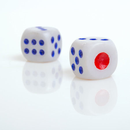 analogy: Financial risks for small guarantee of success. Stock Photo