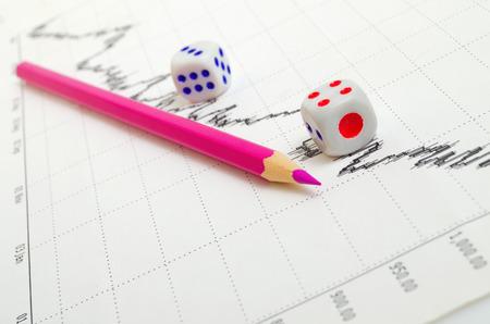 analog�a: Tendencia a la baja y la din�mica negativa en la tabla de valores.