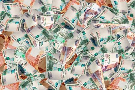 Een heleboel geld - Russische roebels - achtergrond.