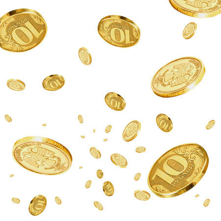 accrual: Coins of 10 rubles to hover in the air.