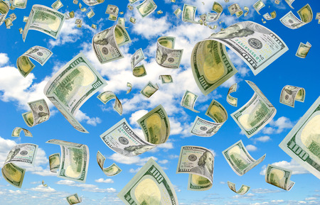 accrual: Dollars is flying in the sky.