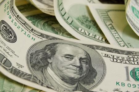 factura: Una gran cantidad de dinero en efectivo de d�lares. Foto de archivo