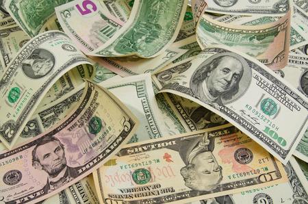 Veel contante Amerikaanse dollars. Stockfoto