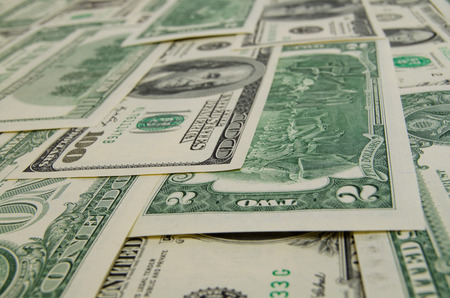 cashing: A lot of cash US dollars.