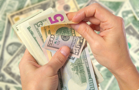 remittances: Attraction of investments and investors for various projects. Stock Photo